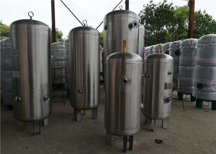 ASME Standard Stainless Steel Air Receiver Tank With Relief Valve High Volume